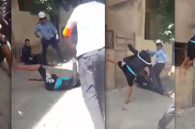 شاهد لحظة إطلاق الرصاص على مقرقبين مسلحين بالسيوف في فاس