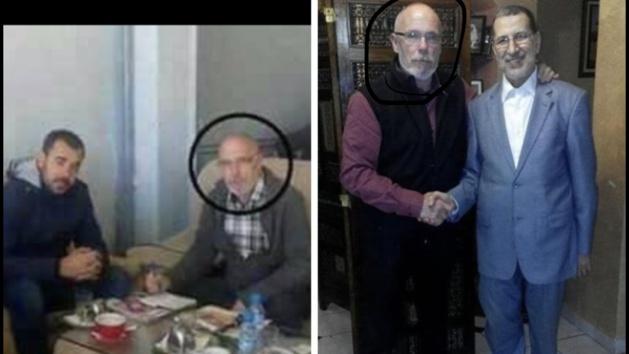 شوف بالصور: صحافي إسباني جالس مع 'الزفزافي' و'العثماني' يُقدمه مجهولون على أنه زعيم المخابرات الجزائرية