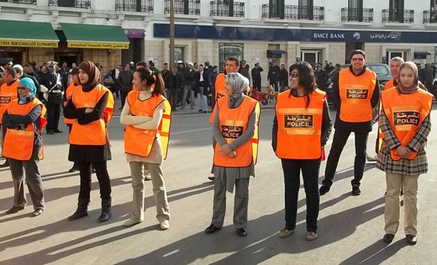 بالصور : شرطيات وسط الحراك