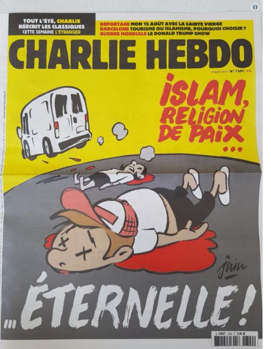 مجلة شارلى إيبدو الفرنسية تواصل استفزاز المسلمين بنشر رسم يسيء للإسلام