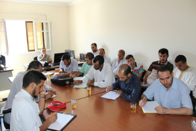اجتماع الايمة المؤطرين بمقر المجلس العلمي بالناظور