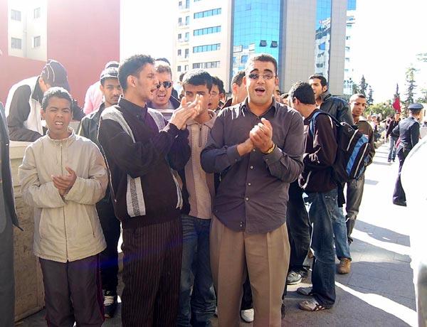 مسيرة احتجاجية  تضامنية للمكفوفين بوجدة