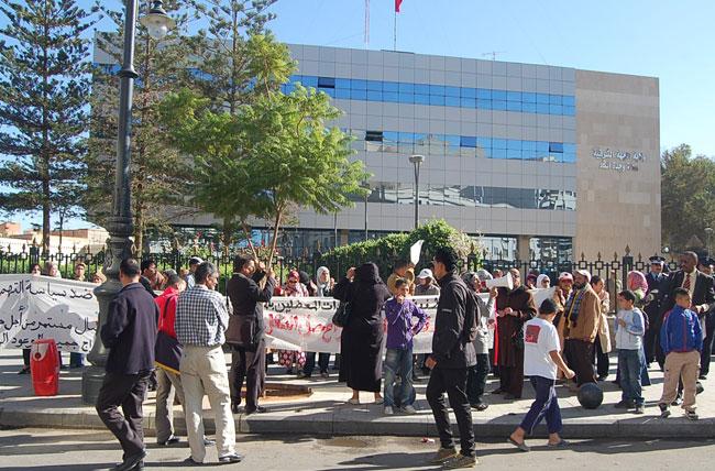 احتجاجات لمعطلين ضد التماطل في إنصافهم
