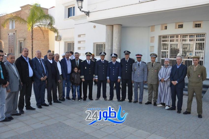 بالصور:مراسيم تحية العلم بمدينة بن الطيب بمناسبة ذكرى المسيرة الخضراء
