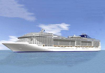 """الباخرة العملاقة للرحلات البحرية """"إم إس سي فانتازيا"""" ترسو بميناء الدار البيضاء"""