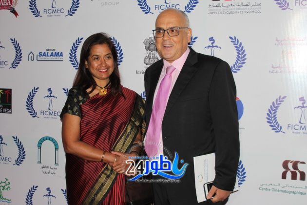 بحضور سفيرة الهند وعامل الإقليم,مهرجان السينما والذاكرة المشتركة بالناظور يفتتح فعاليات دورته السادسة