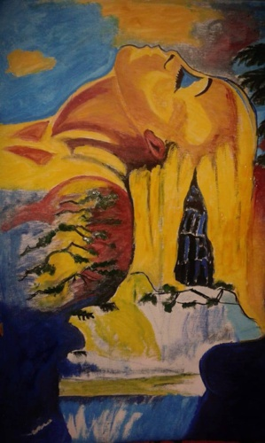 الأعمال الفنية التشكيلية للرسامة المغربية الريفية مونة مزياني نموذجا