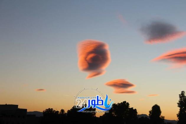بالصور:غيوم مذهلة أضائت سماء بن طيب مساء اليوم  تثير استغراب فيسبوكيون
