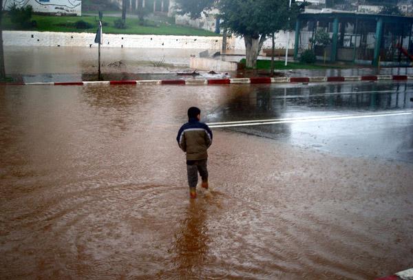 فقدان شاب بالقرب من تاوريرت جراء الأمطار العاصفية