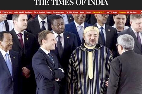 """صحيفة """"ذا تايمز أوف إندي"""":  المغرب قوي """"إفريقيا"""" ومن يحاول عرقلة ارتباطه بالقارة يمارس """"لعبة خاسرة"""""""