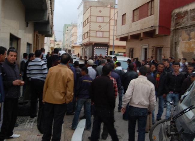 حادث سير عنيف بالقرب من شارع الزرقطوني بالنّاظور