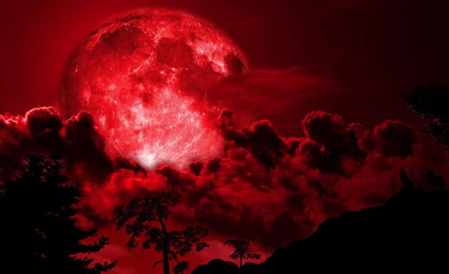 """""""القمر الدامي"""" ظاهرة كونية تحبس الأنفاس ينتظرها المغاربة غدًا الأربعاء"""