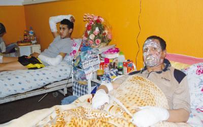 الحكم السابق جمال بلقاسمي بمستشفى الفارابي بعد إصابته رفقة ابنه بحروق