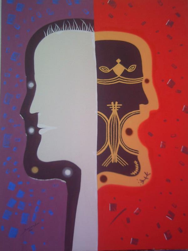 الفنان التشكيلي الريفي محسن بوزمبو ينظم معرظا تشكيليا بمدينة مراكش