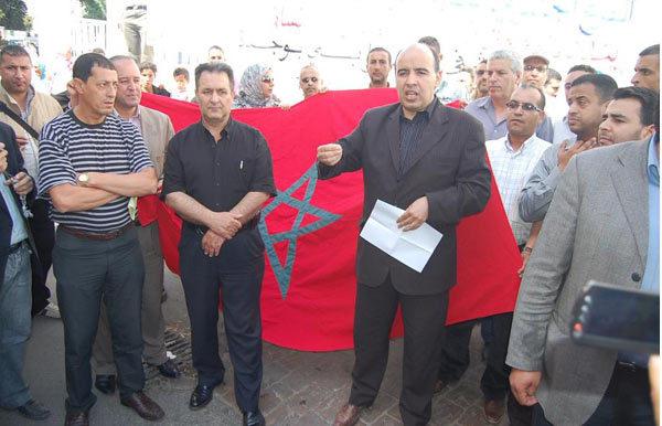 فرع وجدة للنقابة الوطنية للصحافة المغربية تنظم وقفة احتجاجية ضد مستشفى الفارابي