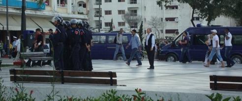 طنجة : جرحى وإعتقالات