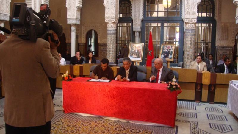 جمعية الريف للمسرح الامازيغي بالحسيمة  توقع اتفاقية الشراكة مع المجلس الاستشاري لحقوق الانسان وصندوق الايداع والتدبير