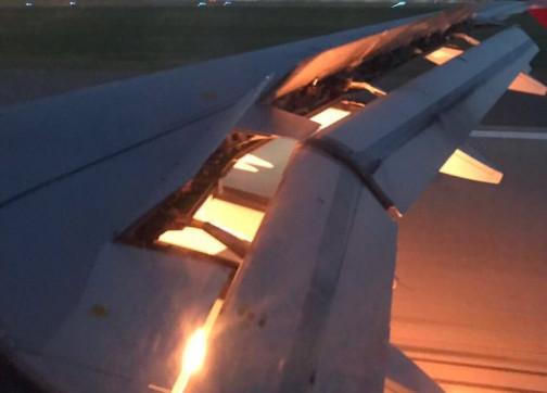 المنتخب السعودي ينجو من الكارثة بعد احتراق جناح طائرته