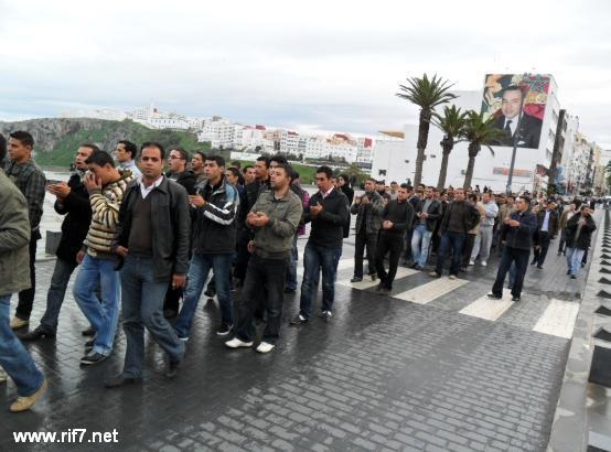 تدخل عنيف لقوات الأمن ضد المعطلين يوم عيد الأضحى بالحسيمة