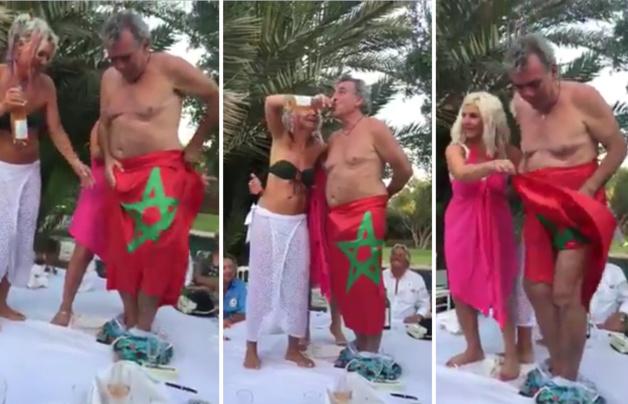 اعتقال فرنسي وزوجته وسحب جوازيهما والتحقيق معهما حول إهانة العلم الوطني
