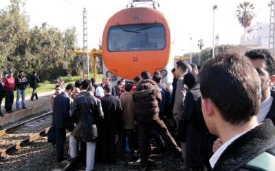 قطار للمسافرين يدهس شخصا في تازة