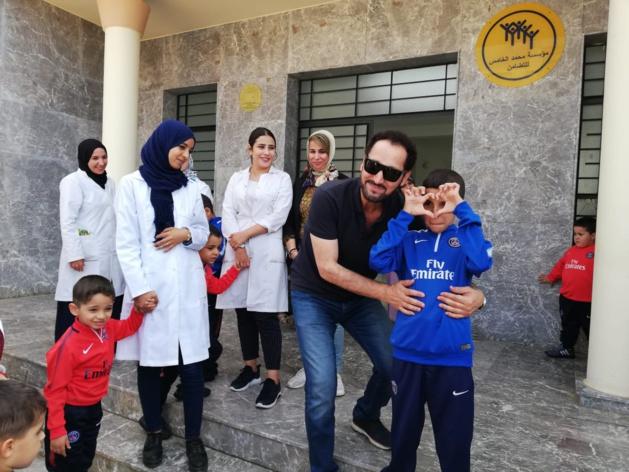الفنان العراقي ناصر الشما في زيارة إنسانية لجمعية أيمن للتوحد بالناظور