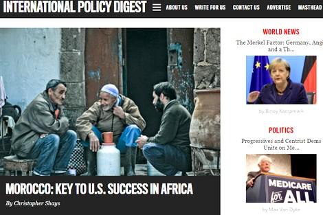 إنترناشيونال بوليسي دايجست: المغرب حليف نموذجي لأمريكا ومفتاح نجاحها في أفريقيا