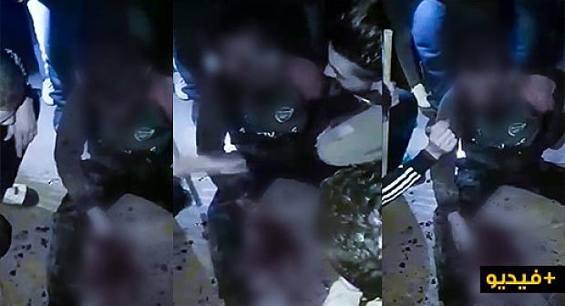 مواطنون بالناظور يلقون القبض على لص ويبرحونه ضربا+(فيديو)