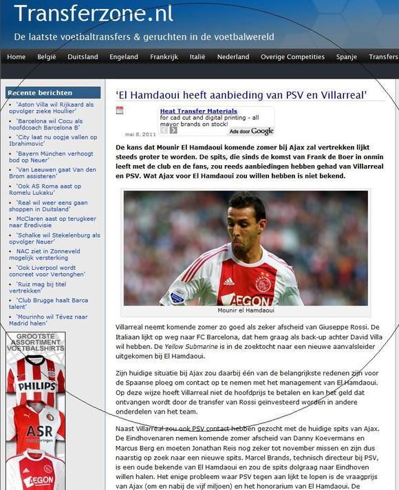 اللاعب منير الحمداوي ضمن حسابات فريق فياريال الاسباني