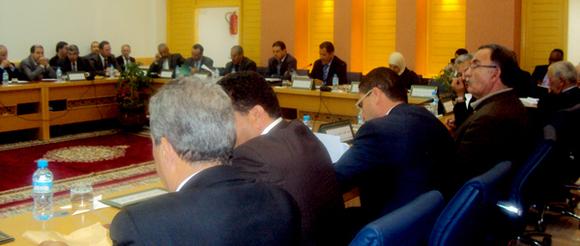 انعقاد الدورة الثانية للمجلس الجهوي لجهة تازة الحسيمة تاونات وجرسيف في غياب السيد فؤاد البريني