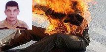 """شاب من بركان يضرم النار  في جسده على طريقة """" الكنوني"""""""