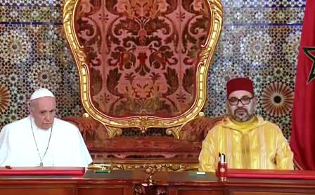 توقيع نداء القدس من طرف جلالة الملك محمد السادس وقداسة البابا فرانسيس
