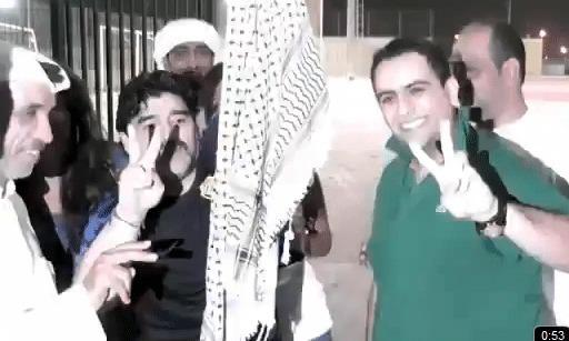 دييغو مرادونا : تحيى فلسطين