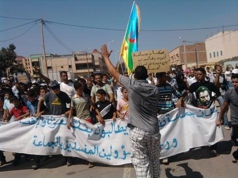 بني بوعياش: سكان جماعة تفروين ينظمون مسيرة صوب قيادة النكور