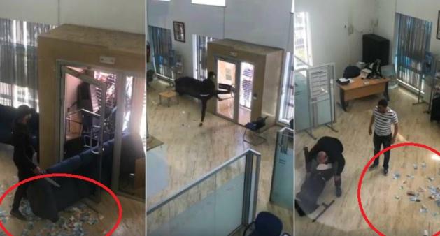 فيديو/ لص مسلح بسيف يقتحم بنكاً بطنجة بدعوى مرض والده بالسرطان !