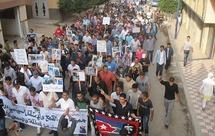 مسيرات فروع التنسيق الإقليمي للمعطلين بإقليم الحسيمة بإمزورن وبوكيدارن والحسيمة