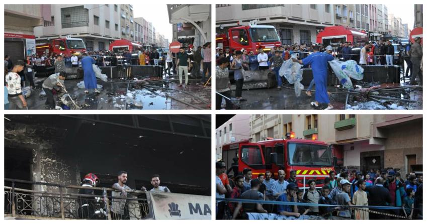 اندلاع حريق بمحل تجاري بالعروي يستنفر السلطات الامنية وعناصر الوقاية المدنية