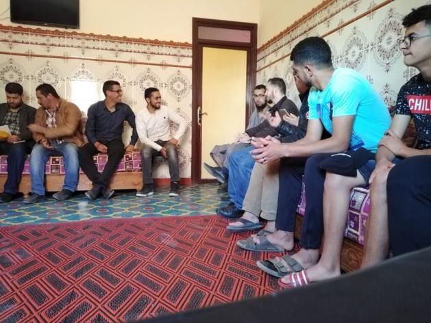 زيارة تفقدية للنائب البرلماني فاروق الطاهري إلى دواوير عاريض وبلوك 57 بوعرك