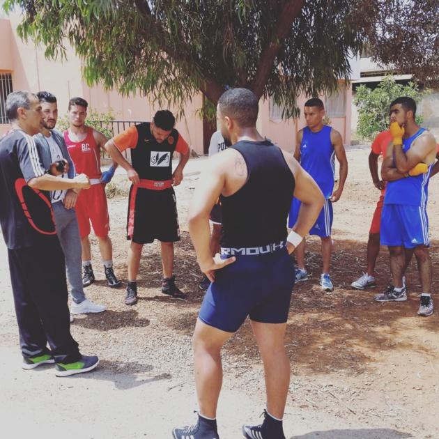 ابن الناظورالبطل المغربي في الملاكمة عامر نفيد يستعد لنزال الجيش الملكي بعد يومين ببركان