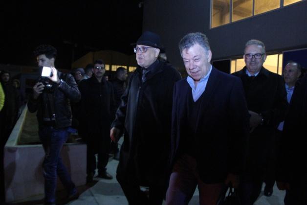 وصول ضيف الناظور الرئيس الكولومبي السابق خوان مانويل سانتوس، الحاصل على جائزة نوبل للسلام
