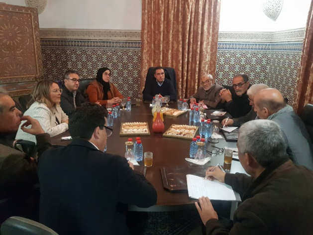 السيد سعيد الرحموني رئيس مجلس إقليم الناظور يترأس اجتماعا جمعه بمسؤولين عن قطاع الصحة بالإقليم