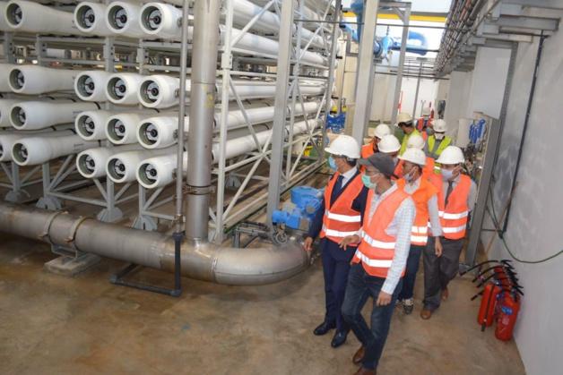 الحافظي  يقوم بزيارة ميدانية للحسيمة بمناسبة الانتهاء بنجاح من تجارب الشروع في استغلال مشروع تحلية مياه البحر