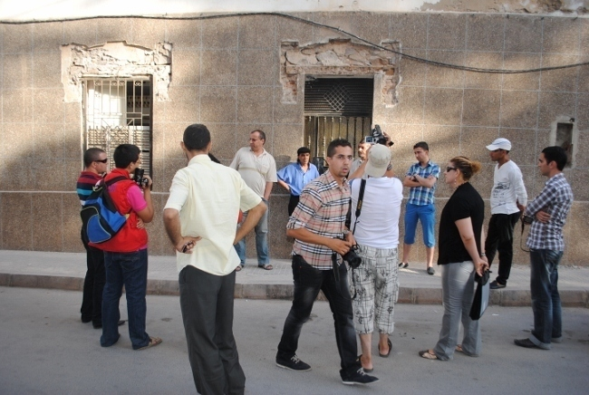 فعاليات فنية و مسرحية في وقفة احتجاجية للمطالبة بعدم هدم المبنى التاريخي « كاسا بيسكا