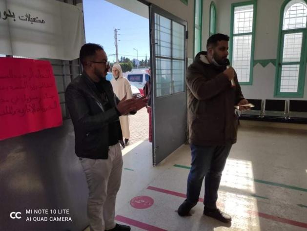الدريوش: إعتصام الأطر الصحية داخل المركز الصحي بعد تهرب مسؤولي الصحة من مهامهم واستمرار الفوضى