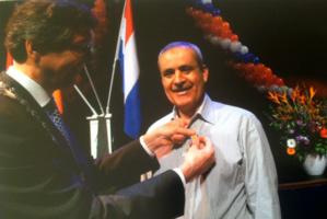 """توشيح """" عبد الله الشامي """" بالوسام الملكي الهولندي لثراء مساره داخل المجتمع الهولندي"""