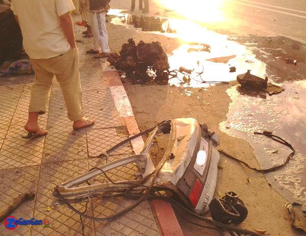 حادثة سير مروعة على الطريق الرابطة بين أزغنغان و الناظور تودي بحياة شخص و إصابة أربعة أخرين