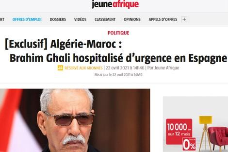 نقل زعيم الانفصاليين إلى مستشفى باسبانيا بهوية جزائرية مزورة