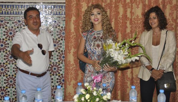 مريام فارس معجبة بالناظور في لقاء الجمعية الاقليمية للمهرجان