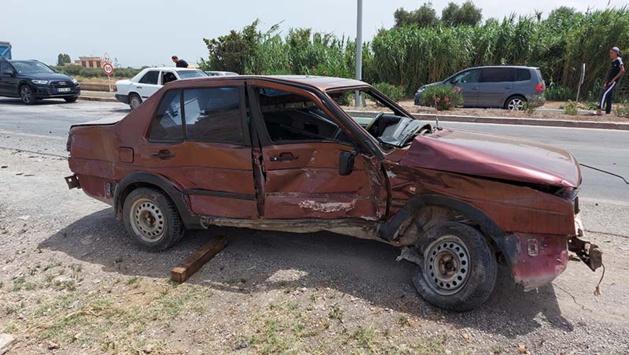 اصطدام قوي بين سيارتين في طريق أزغنغان يخلف خسائر مادية جسيمة