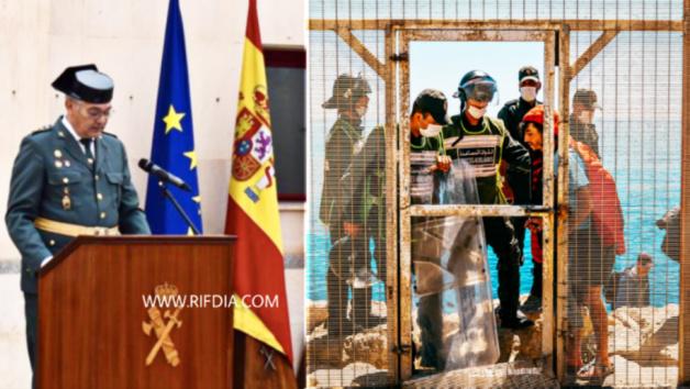 مليلية / قائد الحرس الاسباني  يوجه رسالة لقوات أمن الحدود المغربية و يؤكد ان المعبر الحدودي سيتم فتحه قريبا